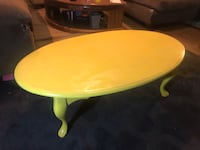 Vintage refurbished wooden oval coffee table Taylors, 29687