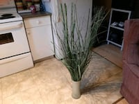 "tall (45"")  artificial grass and bamboo in vase NEWTON   Surrey, V3S 9C4"