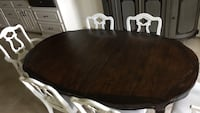 Refinished oval wooden dining set Lafayette, 70508