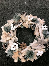 Handcrafted Christmas wreath