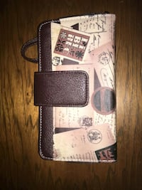 black and white leather wallet Greeneville