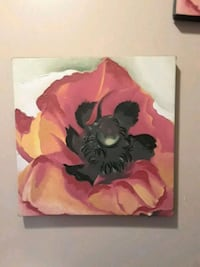 painting of red and orange poppy flower 228 mi