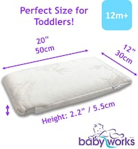 Toddler memory foam pillow with bamboo and cotton pillowcases Mississauga, L5K 1H6