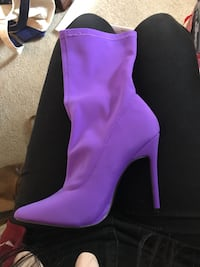 Purple Lycra Sock Boot