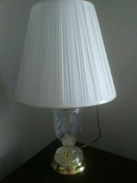 clear glass base white shade table lamp Tampa, 33614