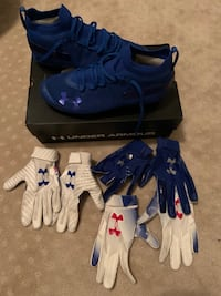 Under Armour Suede MC cleats w/ 3 pair of limited UA gloves Folsom, 95630