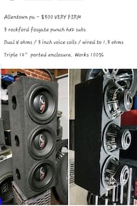 """3 12"""" fosgate subs in ported box"""