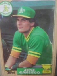 1987 Topps All Star Rookie Jose Canseco #620 baseball card PURCELLVILLE
