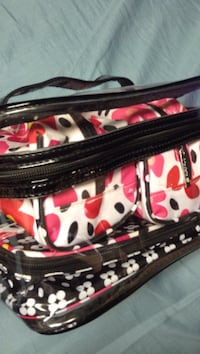 black and white floral zip bags Price, 84501