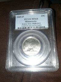 silver pcgs ms64 minnesota coin