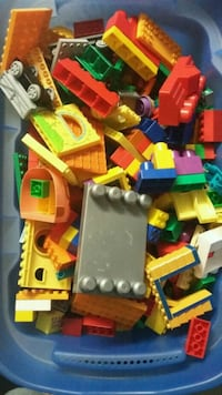 Mega Bloks and Duplo Blocks