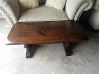 Wooden Coffee table and two End tables