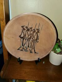 African Decorative Plate with Stand reg $160