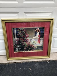 "Ethan Allen Home Collection Beautiful Large Framed Picture 37""x33"" Manassas, 20112"