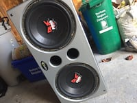 """Dual 12"""" Rockford subwoofer dual coiled/ported"""