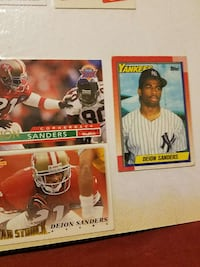 two american football and one baseball  trading car collections