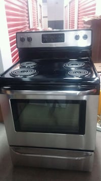 black and gray 4-coil electric range oven