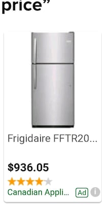 gray and black top mount refrigerator Edmonton, T6K 1L8