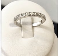 14k white gold custom crafted diamond eternity wedding band *Compare at $2,300