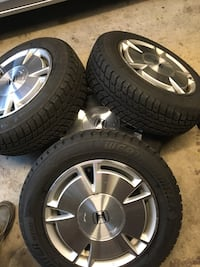 Honda Civic rim and tires winter 90% thread  Ajax, L1T 3P4