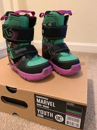 3ffd65eadf25 Used Burton grom marvel kids snowboard boots for sale in San ...