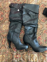 Leather knee high boots size 7.5 Riverbank, 95367