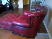 red leather padded sofa chair Pottsboro, 75076