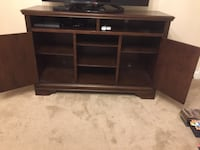 brown wooden TV stand with shelf Norfolk, 23518