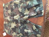 green, black, and brown camouflage cargo shorts San Diego, 92114