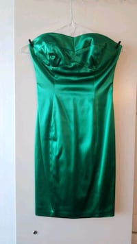 Satin green strapless dress Toronto, M5V 1K1