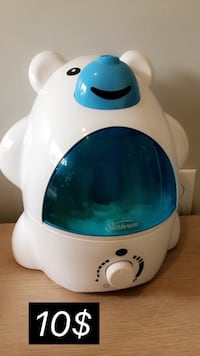 white and blue Vicks humidifier غويلف, N1L 1C8