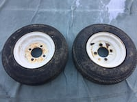 2 tractor/cart/wagon wheels and Carlisle tires Bluemont, 20135