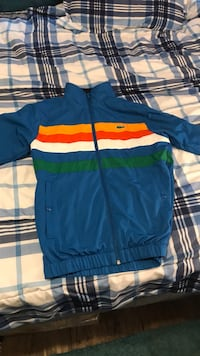 blue, white, orange, and green Lacoste zippered jacket Conway, 29526