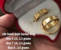 18k saudi gold Cartier Ring Beltsville
