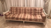 brown and gray plaid sofa Roslyn, 11576