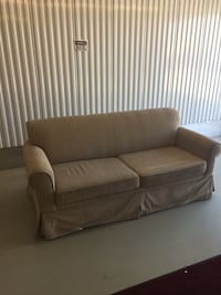 Free delivery: fabric pull out couch queen size  Puslinch, N0B