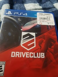DriveClub PS4 game case Anchorage, 99567