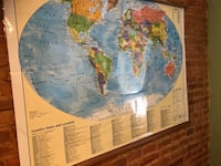 World Map wall piece  Baltimore, 21224