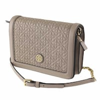 BRAND NEW TORY BURCH QUILTED CROSSBODY BAD IN FRENCH GRAY $200 Markham
