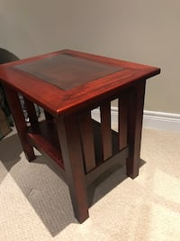 Solid wood coffee table & end table Vaughan