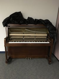 brown wooden framed upright piano Palatine, 60067