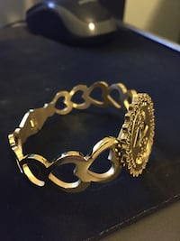 Stainless steel gold plated bracelet