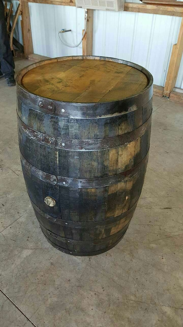 Used Jack Daniels Whiskey Barrel Clear Coated For Sale In Wooster