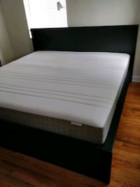 Like new King size bed frame with mattress in grea Annandale, 22003