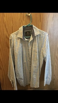 white and green plaid button-up shirt Bothell, 98021