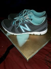 gray/white/blue new balance running shoes St. Louis, 63104