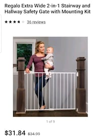 BNIB: Top of the stairs baby gate.