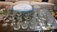 clear glass cups, glassware, bar glass Mississauga, L5C 2E6