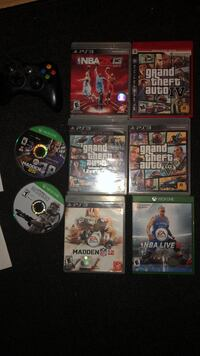 PS3 games + Xbox one + 360 Falling Waters, 25419