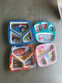 three assorted color plastic toys Fresno, 93722